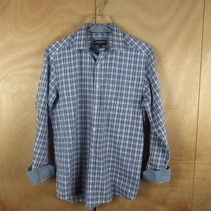 Johnston & Murphy Men Dress Shirt w/ Pattern Cuff